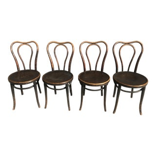 Antique Thonet Bentwood Model 145 Chairs - Set of 4