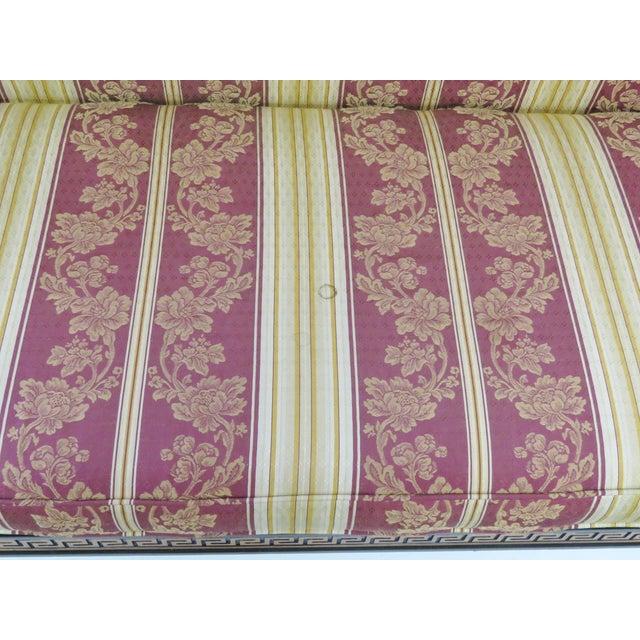 Regency-Style Ebonized & Gilt Fainting Sofa - Image 4 of 5