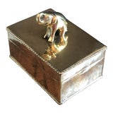 Image of Vintage Elephant Brass Box For Sale