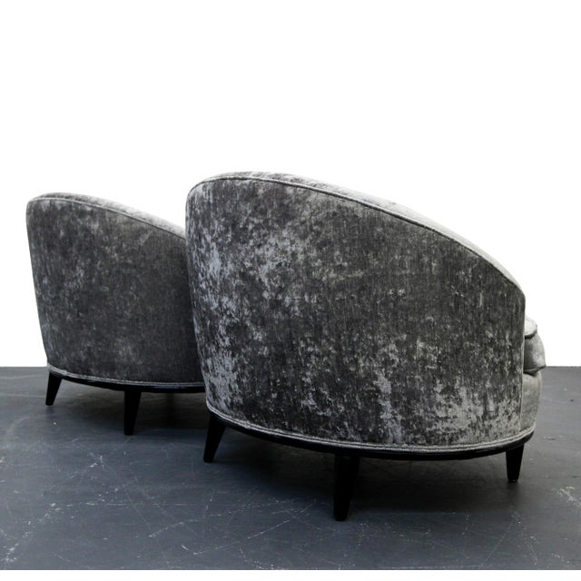 Mid-Century Barrel Back Slipper Chairs - A Pair - Image 6 of 8