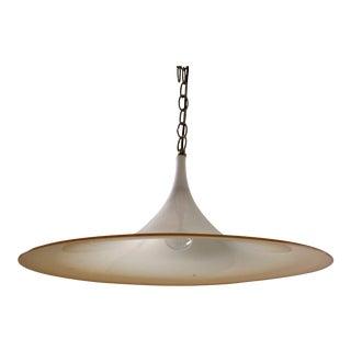 1960s Italian Murano Glass Tulip Chandelier Light Pendant For Sale