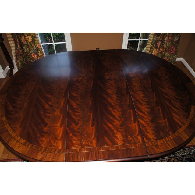 Hickory Chair Mahogany Dining Table - Image 5 of 6