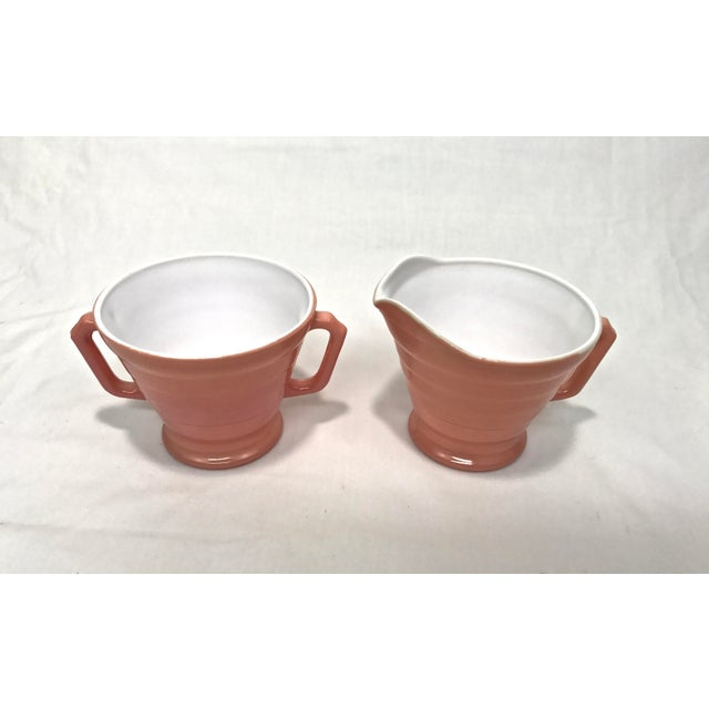 Cottage 1940s Moderntone Sugar & Creamer - A Pair For Sale - Image 3 of 8