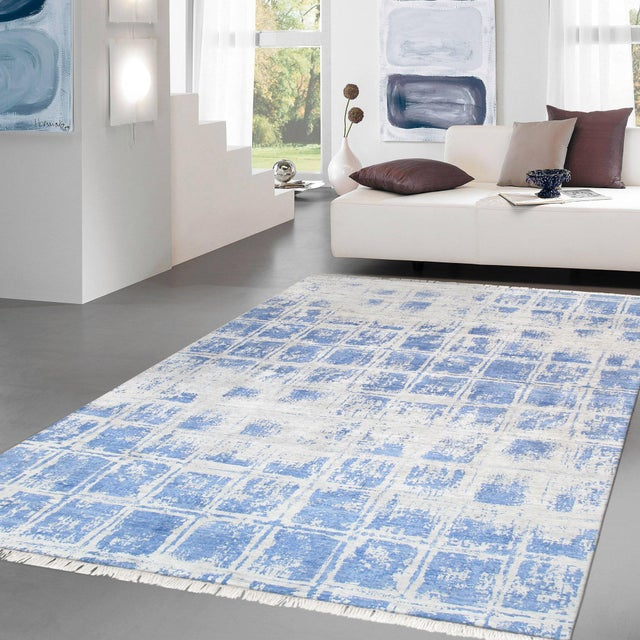 Traditional Pasargad Home Modern Silk Area Rug- 8′ × 10′2″ For Sale - Image 3 of 4
