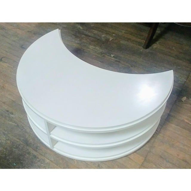 2010s Henredon Furniture White Dove Crescent Occasional Table For Sale - Image 5 of 7