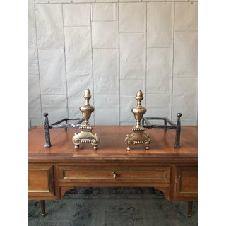 Brass and Iron Fireplace Andirons - a Pair Preview