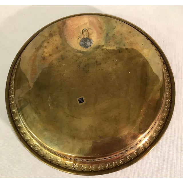 Mid-Century Modern Brass Pierced and Embossed Tray For Sale In Dallas - Image 6 of 7