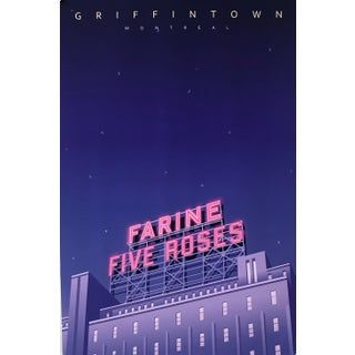 2020 Contemporary Montreal Poster - Farine Five Rose, Griffintown (Framed) For Sale