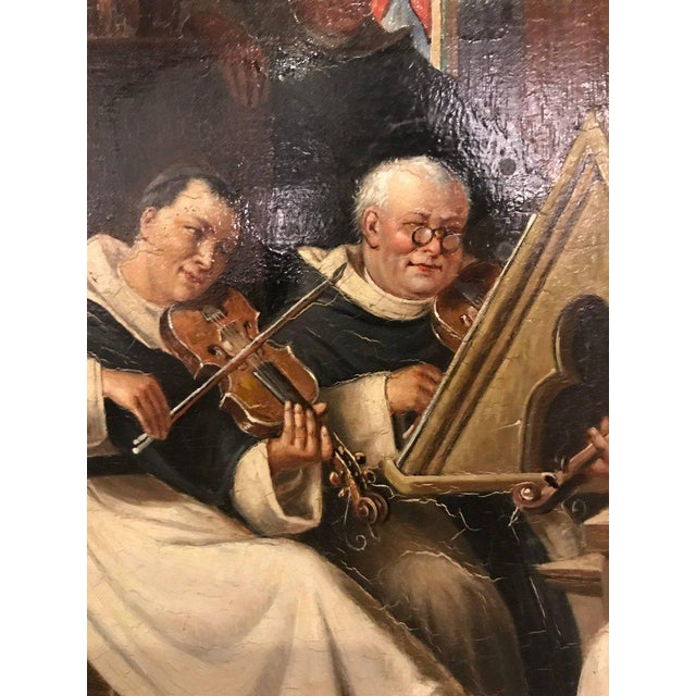 A Late 19th Early 20th Century Oil Painting Of A Group Of Monks On Board For Sale In New York - Image 6 of 12