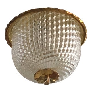 Vintage Italian Murano Glass Pendant Lamp by Barovier For Sale