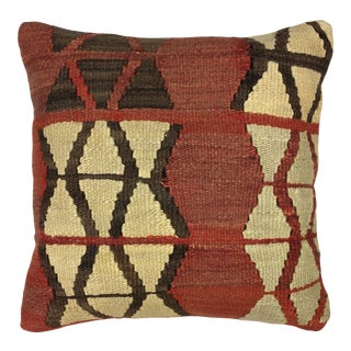"""Rustic Red Kilim Pillow 