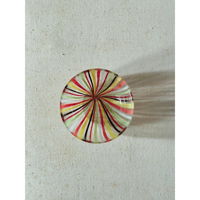 Murano 1960s Murano Venini Striped Glass Bowl For Sale - Image 4 of 5