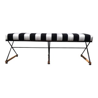 1960s Mid-Century Modern Cleo Baldon-Style 'X' Bench For Sale
