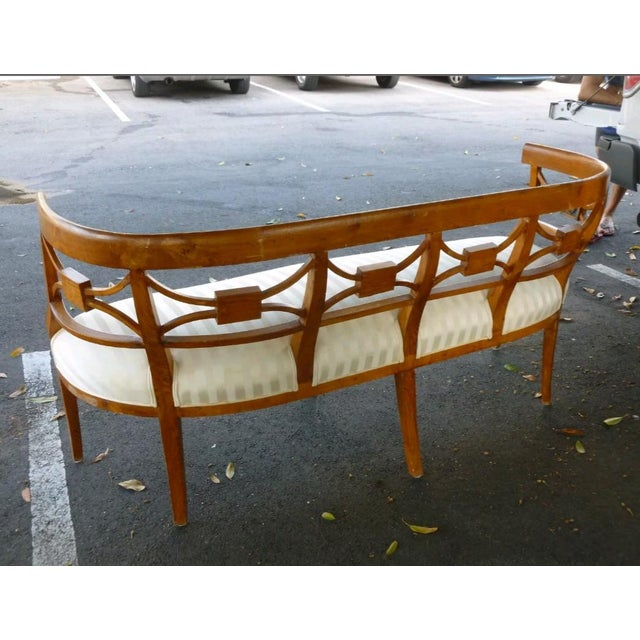 Wood 19th C Italian Neoclassical Fruitwood Settee For Sale - Image 7 of 10