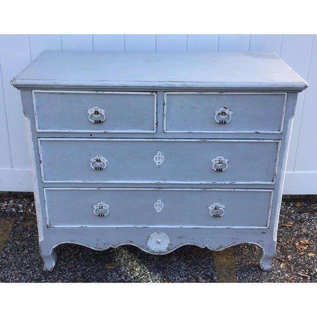 Antique French Provincial Painted Chest For Sale - Image 10 of 11