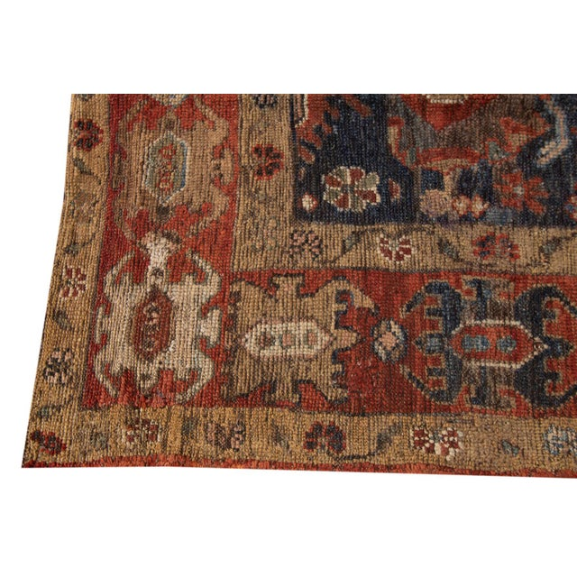 "Vintage Persian Tribal Bakshaish Rug, 3'3"" X 10'10"" For Sale In New York - Image 6 of 11"