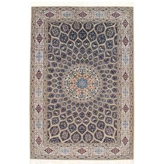 """Pasargad NY Persian Nain Silk & Wool Rug - 5'1"""" X 7'7"""" For Sale"""