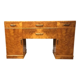 1920s Art Deco Maple and Brass Sideboard For Sale