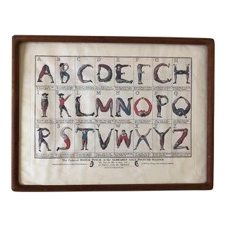 Alphabet Turn'd Posture Master Framed Art For Sale