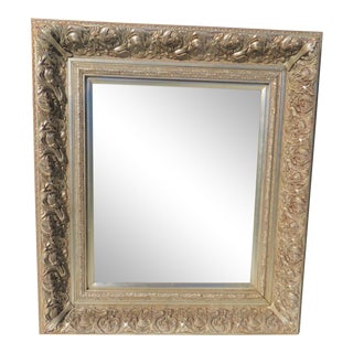 Silver Leaf Carved Mirror For Sale