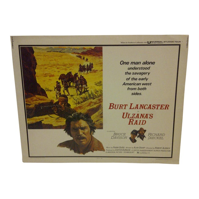 """Ulzana's Raid"" 1972 Vintage Movie Poster For Sale"