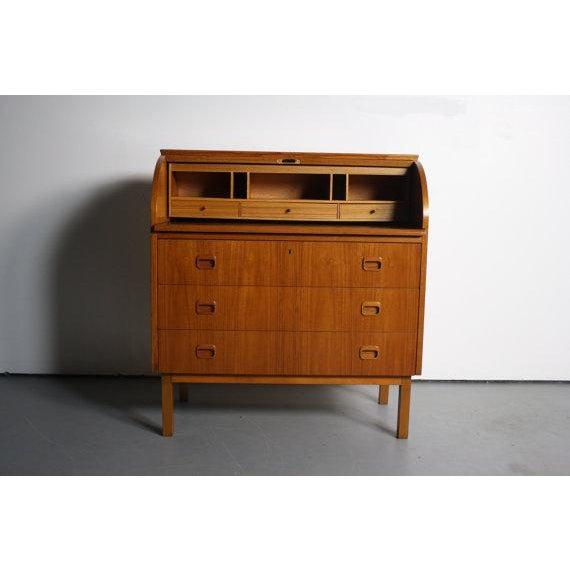 Danish Modern Teak Secretary Desk In Style of Egon Ostergaard - Image 4 of 5