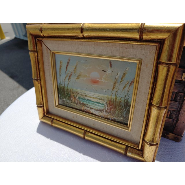 """1960s """"Birds and Sea"""" Vintage Oil Painting by Bernard Duggan For Sale - Image 5 of 8"""