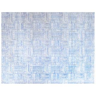 Stark Studio Rugs Contemporary New Oriental Tibetan Wool Rug - 8′11″ × 12′1″ For Sale