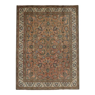 Vintage Persian Tabriz with Traditional Style