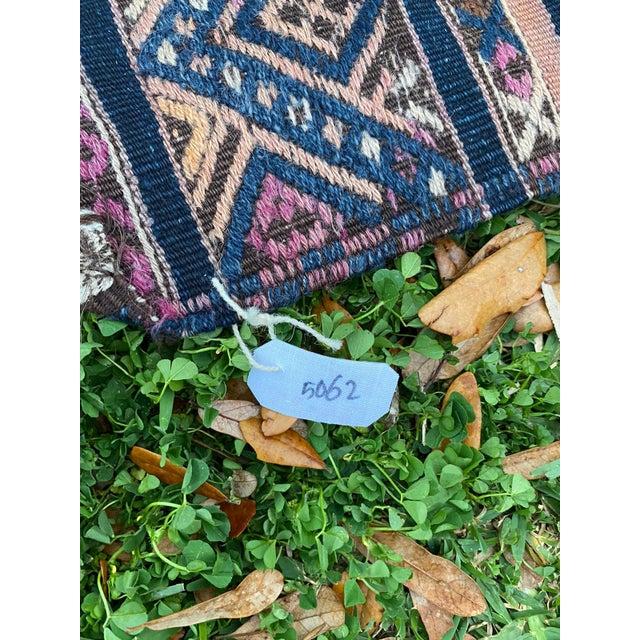 Textile Antique Nomadic Embroidered Cecim Kilim Runner Rug For Sale - Image 7 of 8