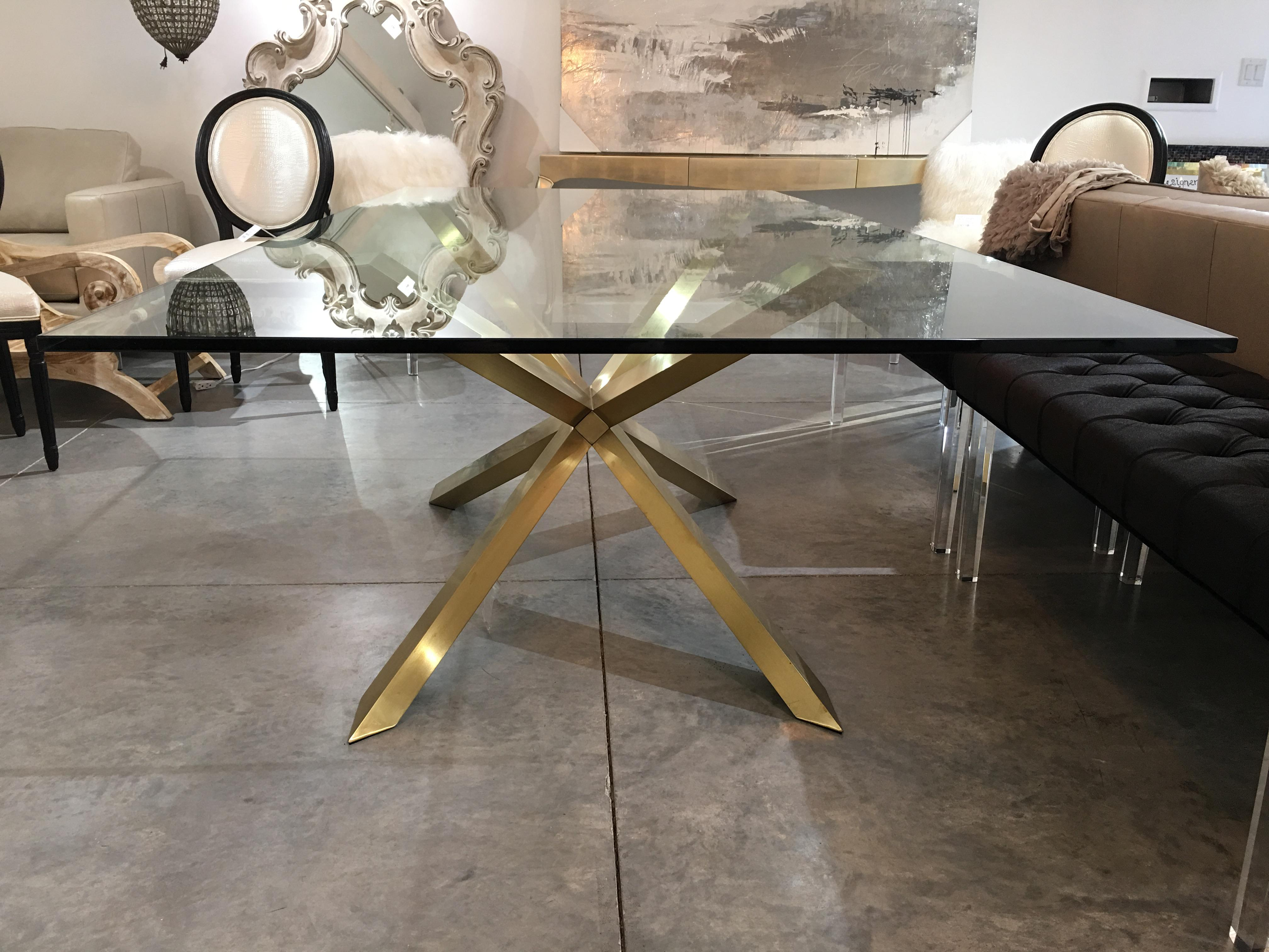 Genial Nuevo Living Couture Glass Top Dining Table For Sale   Image 4 Of 11