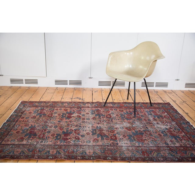 "Distressed Antique Lilihan Rug - 4'3"" X 6'5"" - Image 4 of 8"