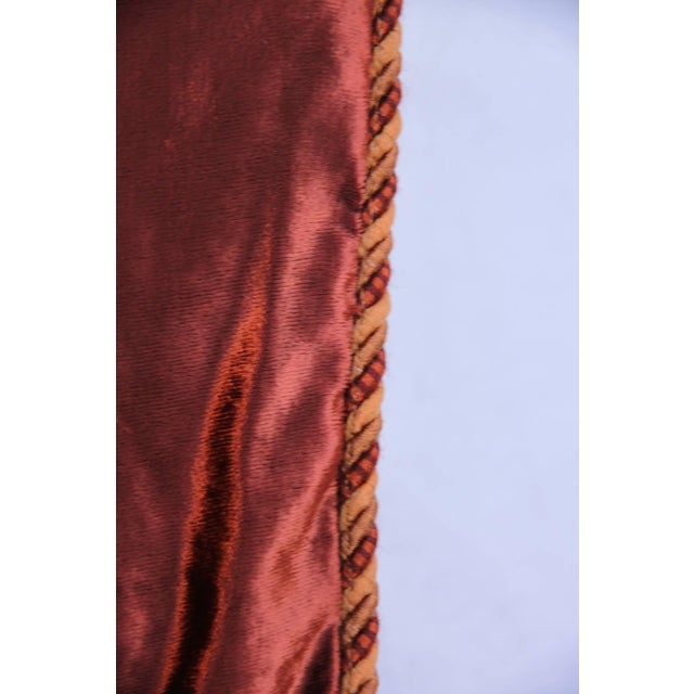 Custom Cognac & Gold Stenciled Throw - Image 6 of 6