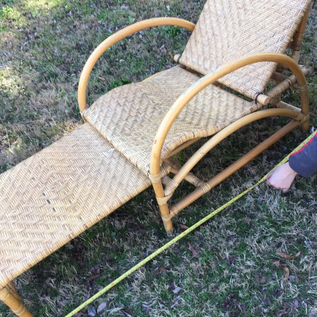 Vintage Wicker Chaise - Image 3 of 5