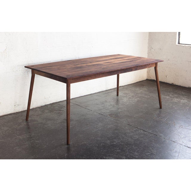 Custom-crafted dining table by Justin Nelson, founder of Fernweh Woodworking out of central Oregon. Beautiful design,...