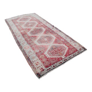 "1940s Tribal Kurdish Hand Knotted Rug-4'x7'11"" For Sale"