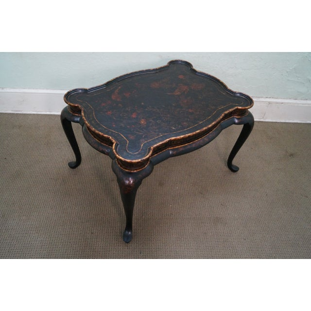 Maitland-Smith Chinoiserie Decorated Coffee Table - Image 4 of 10