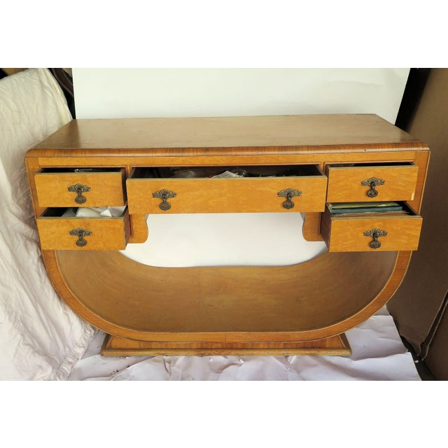 1930s French Art Deco Burl Wood Vanity For Sale - Image 5 of 6