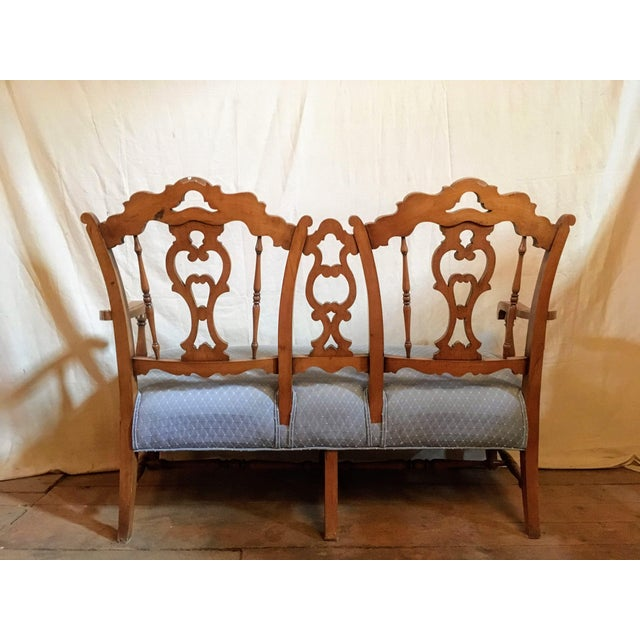 Early 20th Century Vintage French Country Settee For Sale - Image 4 of 6