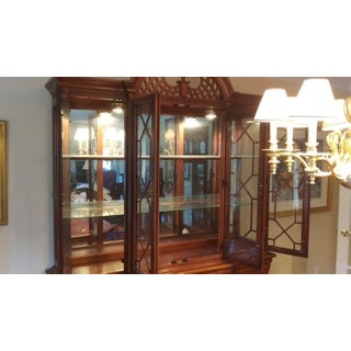 Vintage Lexington Chippendale Style Solid Mahogany China Cabinet Preview
