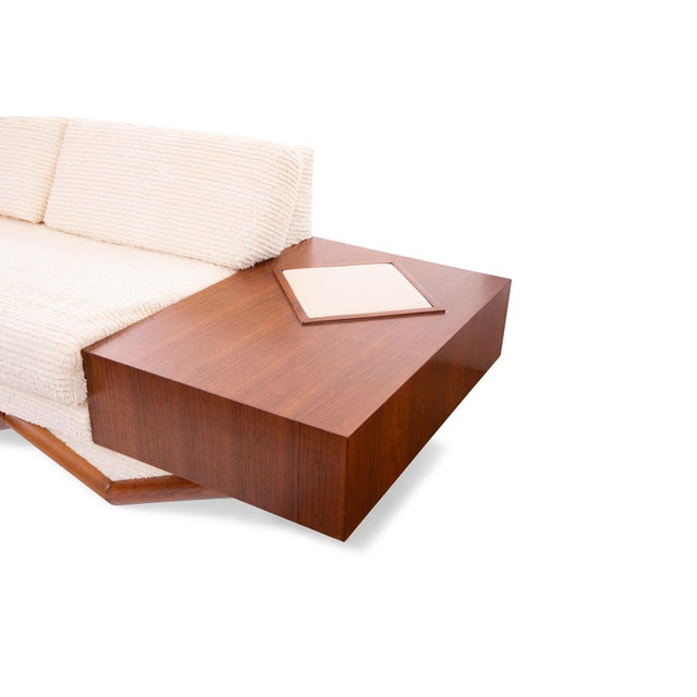 Adrian Pearsall Adrian Pearsall Sculpted Walnut Sofa For Sale - Image 4 of 6