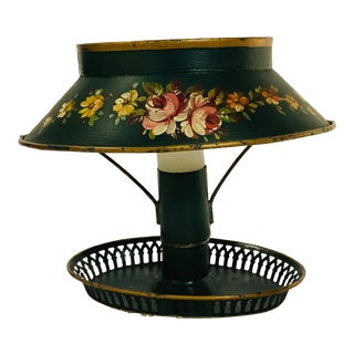 Antique French Tole Candle Lamp For Sale
