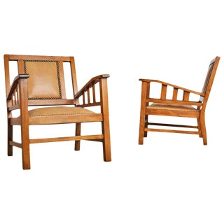 1920s Francis Jourdain French Art Deco Modernist Armchairs - a Pair For Sale