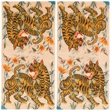 Image of Vintage Tibetan Wool Tiger Area Rug by Carini, a Pair-3'x6' For Sale