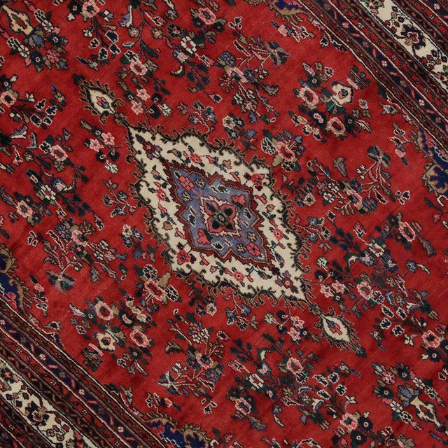 Blue Vintage Kabudarahang Hamadan Persian Palace Rug - 10′6″ × 17′2″ For Sale - Image 8 of 8