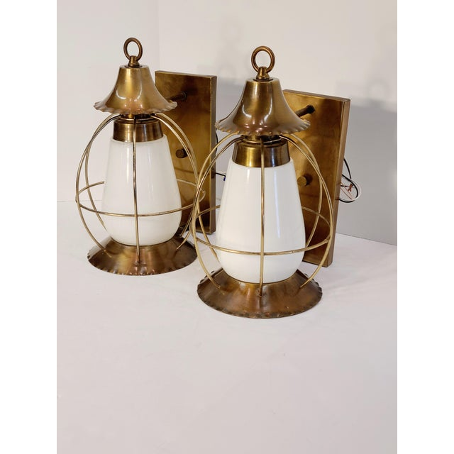 Vintage Nautical Earl Lites Wall Sconces - a Pair For Sale - Image 13 of 13