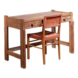 Oak Lady's Desk With Axel Larsson Chair For Sale