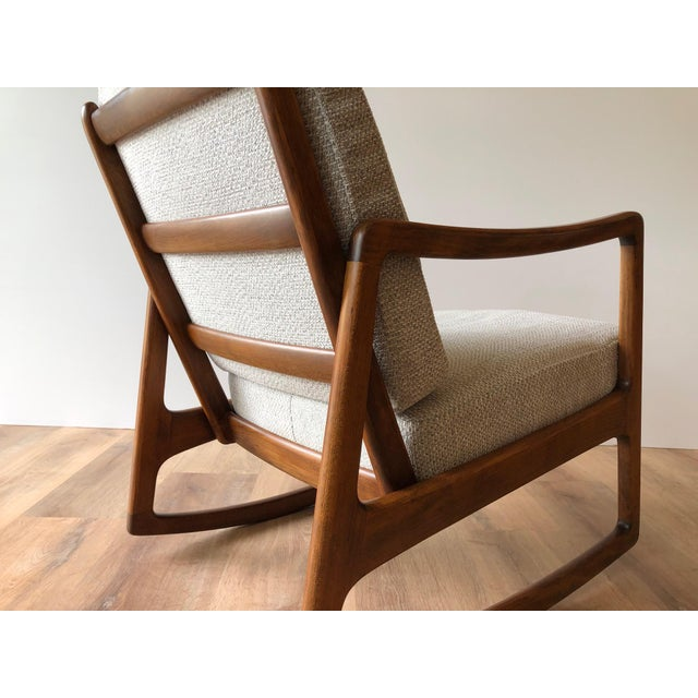 Newly-Upholstered MCM Rocker - Ole Wanscher for France & Daverkosen For Sale - Image 9 of 13