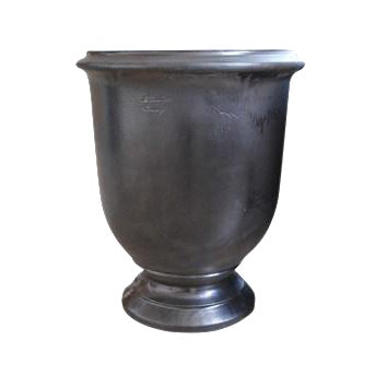 Large French Provence Graphite Colored Urn For Sale