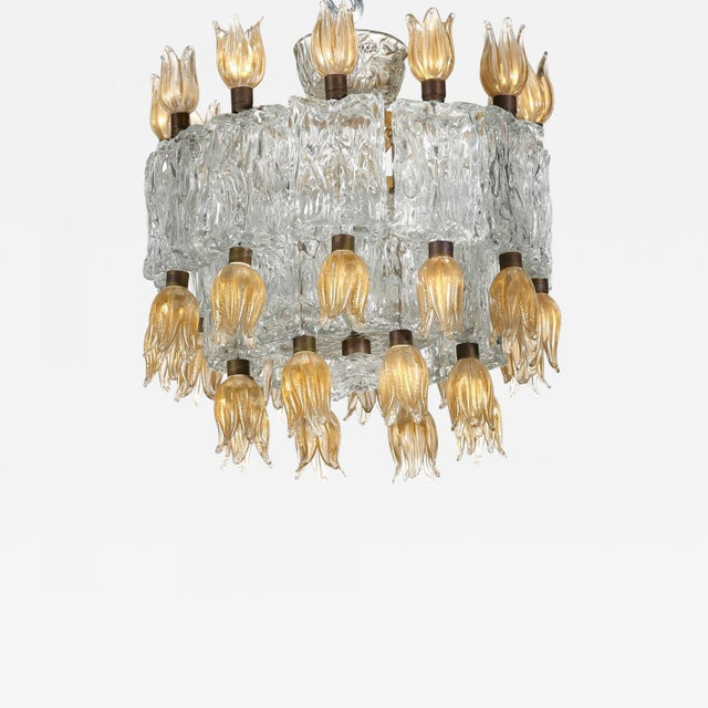 Mid 20th Century Barovier & Toso Chandelier, 50s For Sale - Image 5 of 5